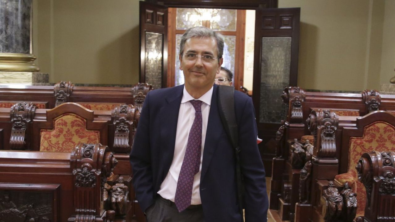 El portavoz del PSdeG PSOE en el Concello de A Coruña, José Manuel Garcia.