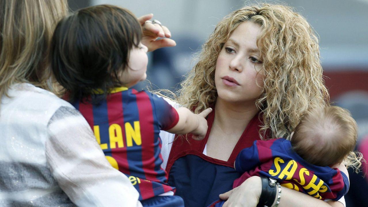 Shakira, con sus hijos, en una imagen de archivo