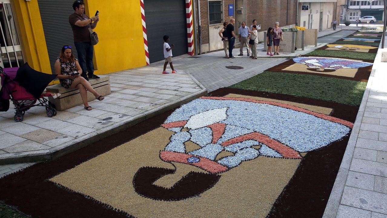 Las mejores alfombras del Corpus de Boiro.