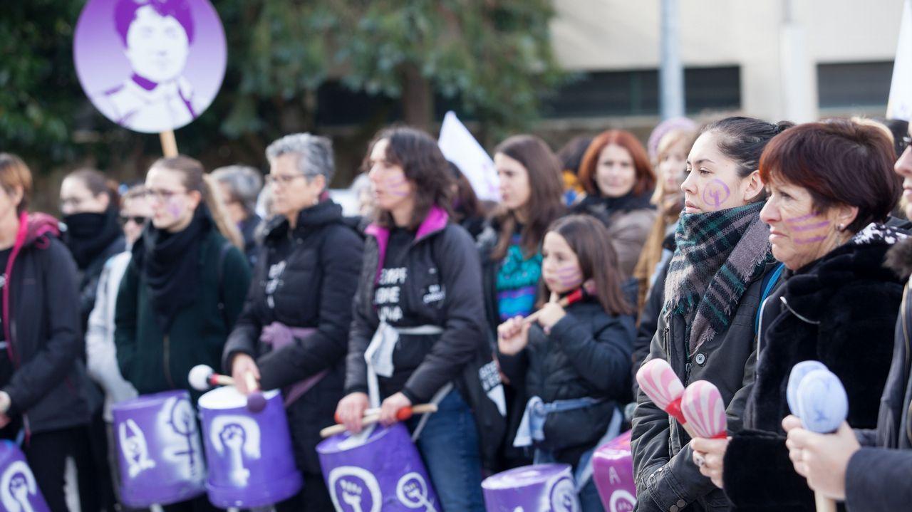 Manifestación contra la violencia machista en Lugo