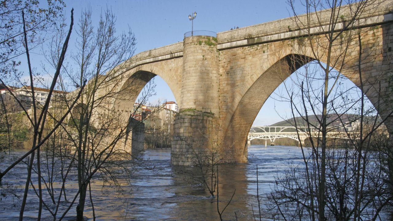 El puente romano de Ourense en una imagen de hace tres años