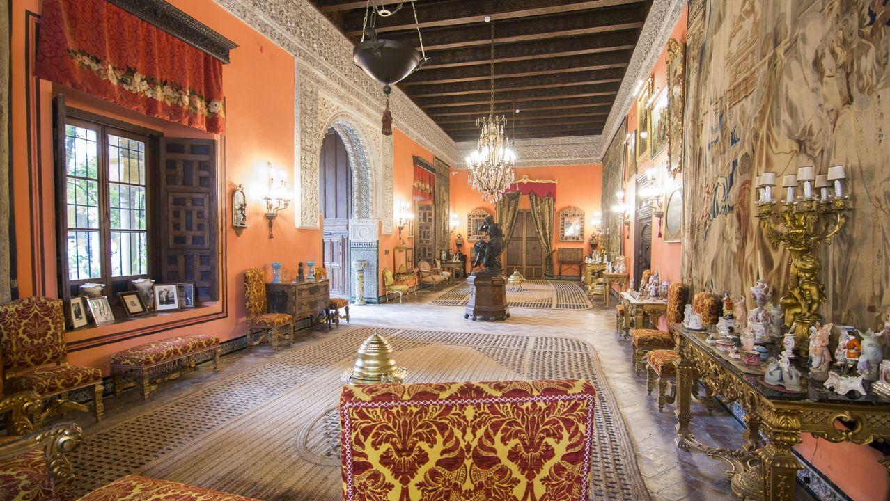 .El salón de la Gitana del Palacio de Dueñas, residencia de la fallecida duquesa de Alba