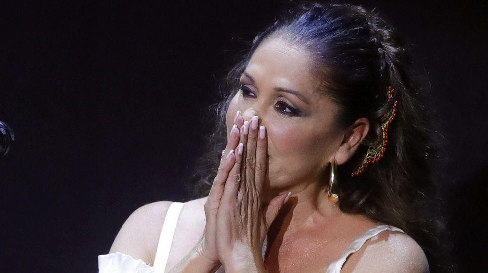 Isabel Pantoja reaparece en un concierto en Aranjuez.