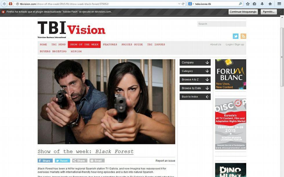 «TBI Vision» destaca la próxima distribución internacional de la serie.
