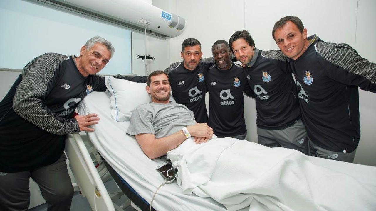 Casillas: «Hay que sacar siempre una sonrisa de estos momentos».Cerveza