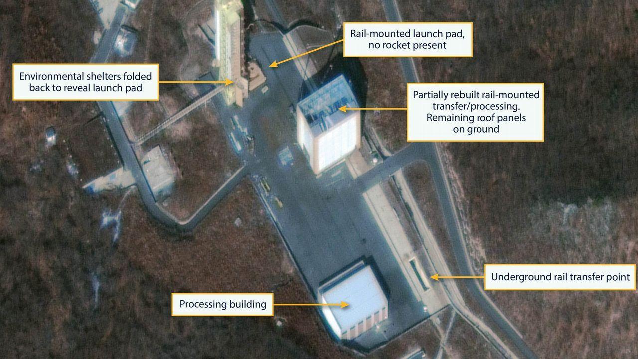 Imagen de satélite de las instalaciones militares de Corea del Norte está reconstruyendo