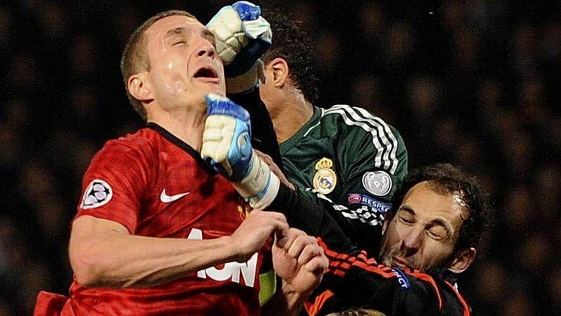Imagen del reciente United-Madrid en la Champions