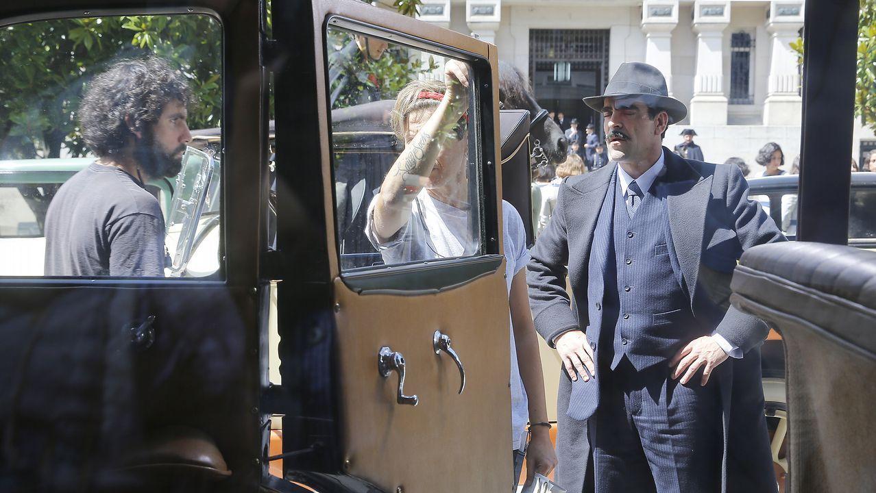 A Coruña vuelve a los años 20 para el rodaje de «La sombra de la ley»