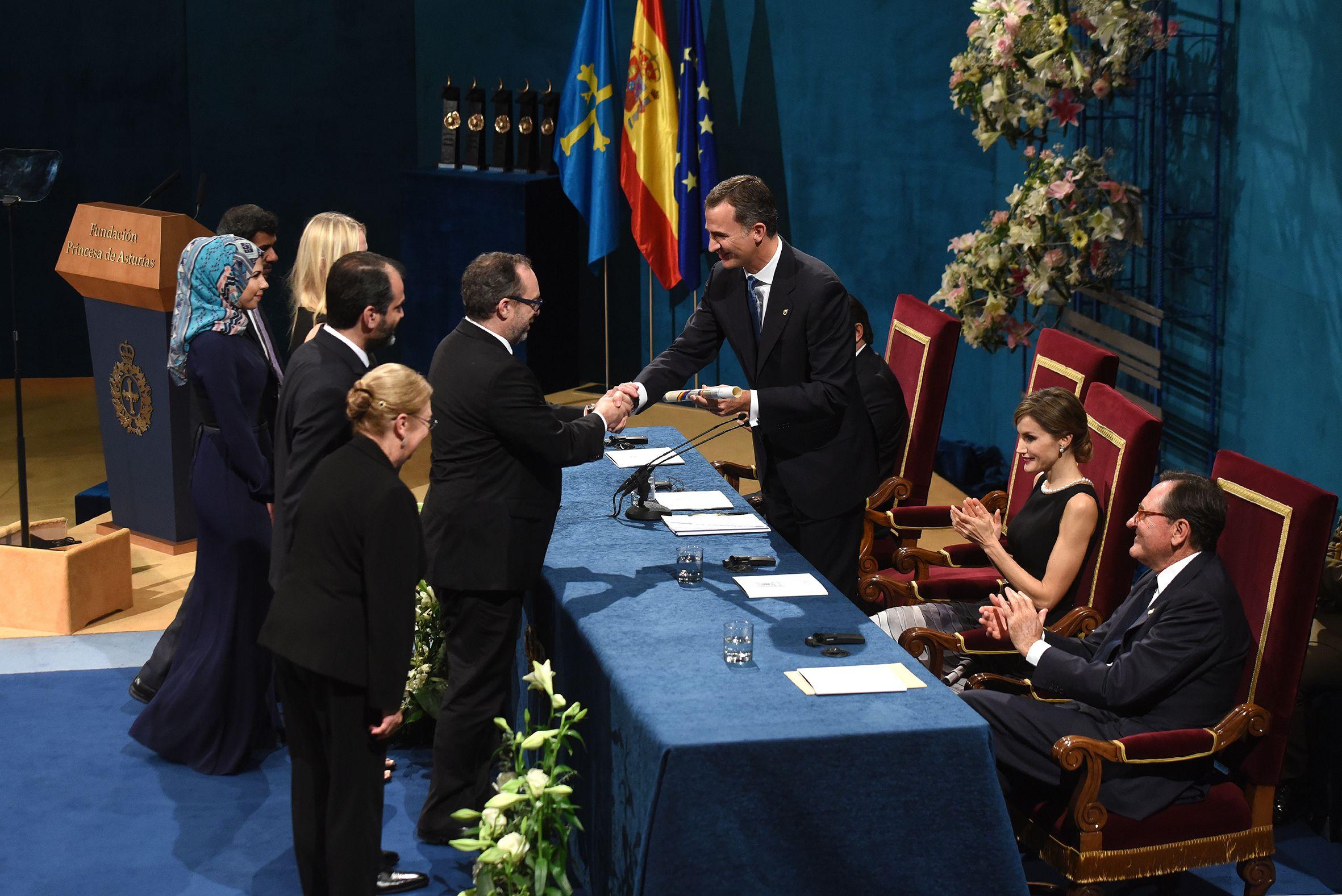 Un momento de la ceremonia de entrega de los Premios Princesa de Asturias 2015