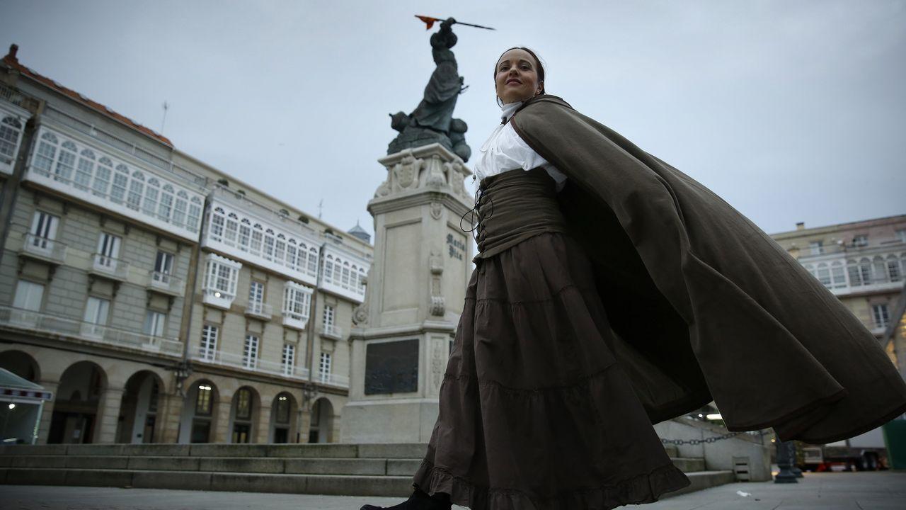 Marta Ortega y Carlos Torretta, en el desfile de Roberto Torretta