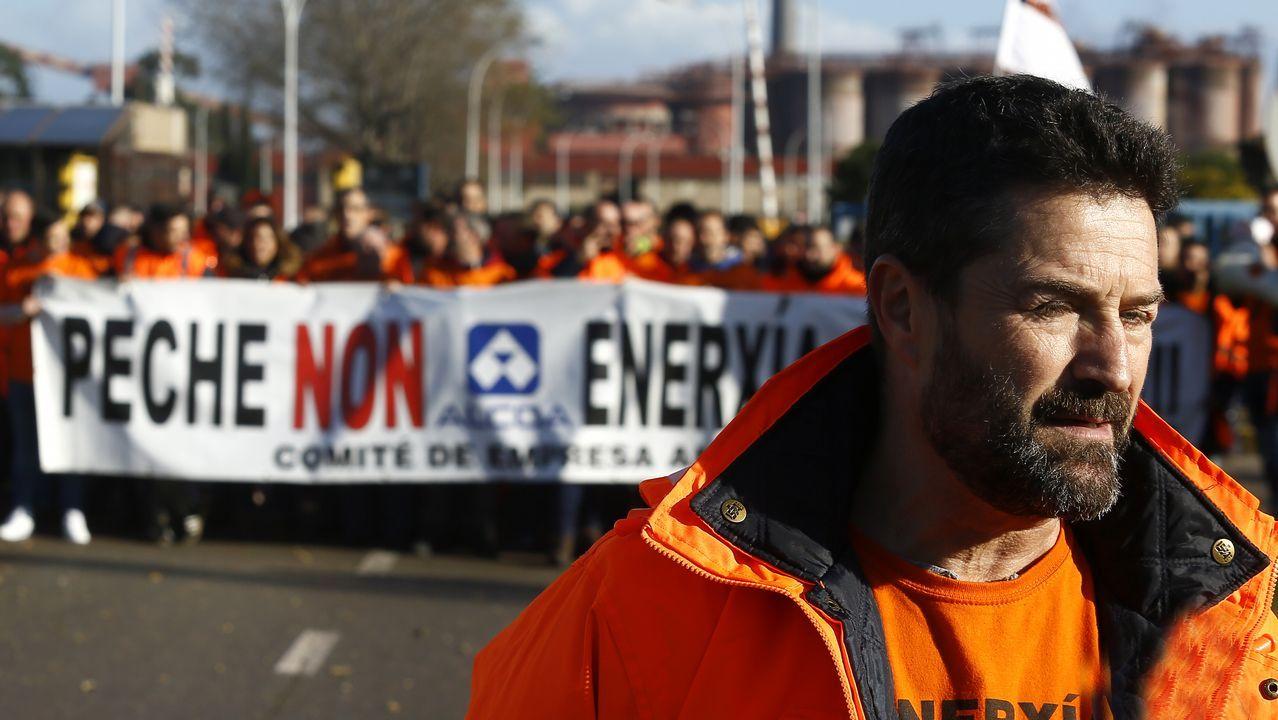 Miles de personas en la manifestación en defensa de Alcoa, en Avilés