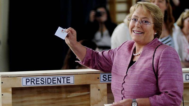 Votación de Michelle Bachelet