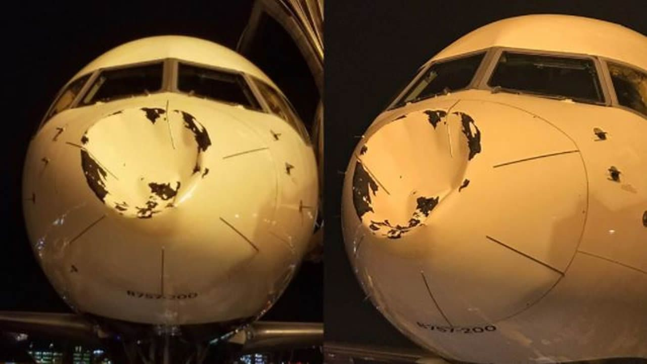 .Las imágenes del tremendo impacto en el avión de los Oklahoma City Thunder