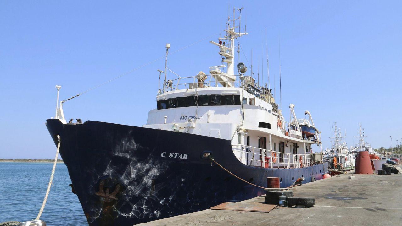 .El barco antinmigración C-Star en el puerto de Famagusta, al norte de Chipre