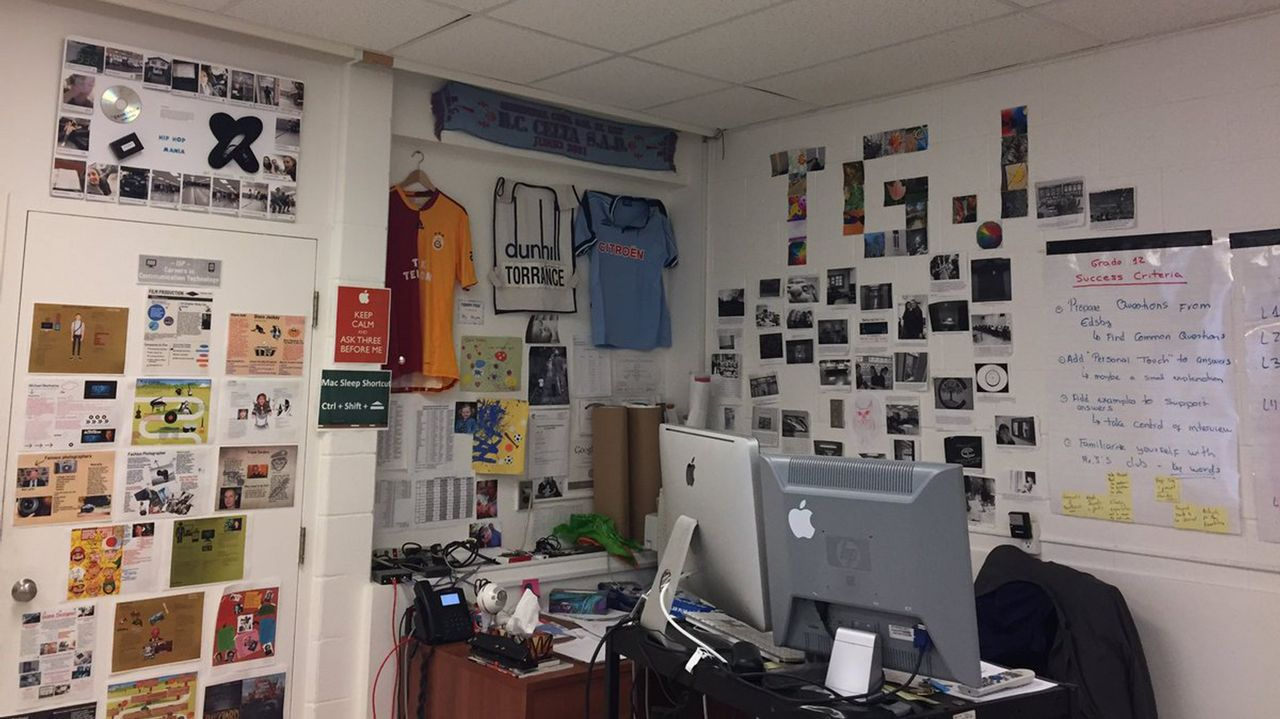 El aula de Tomás en el centro donde trabaja