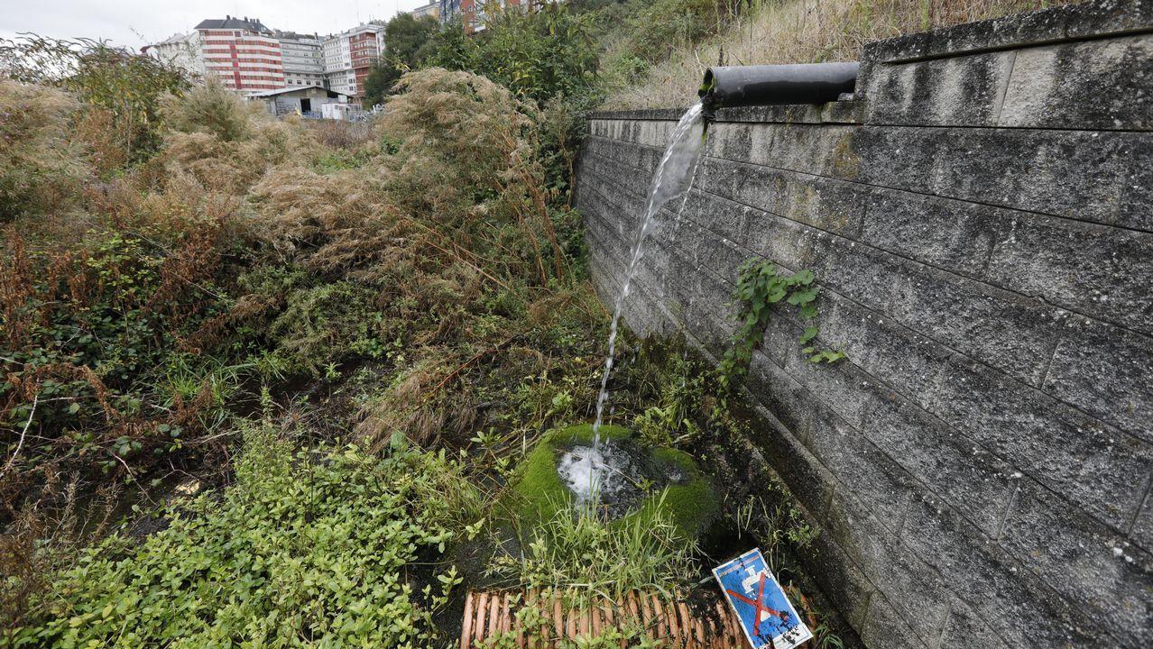Ana deja ya inundaciones en el centro de Lugo.Froilan