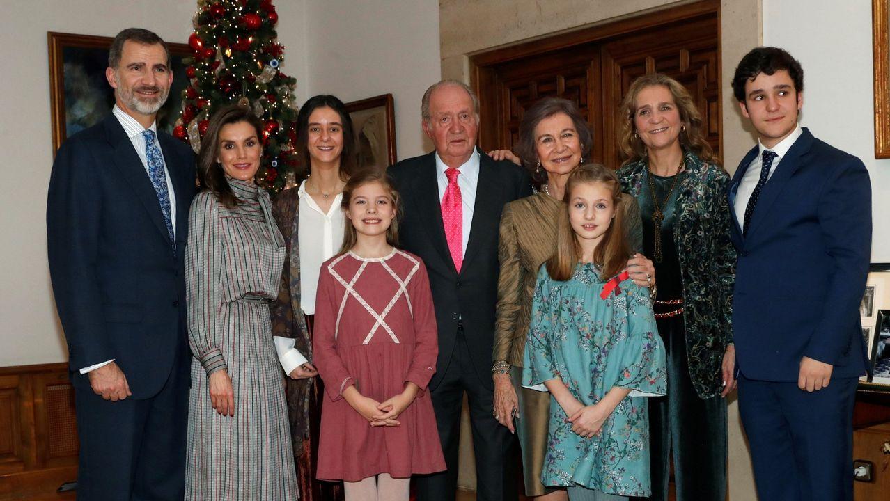 .Foto oficial distrubuida por la Casa Real con motivo del 80 cumpleaños del Rey Juan Carlos el 5 de enero de 2018