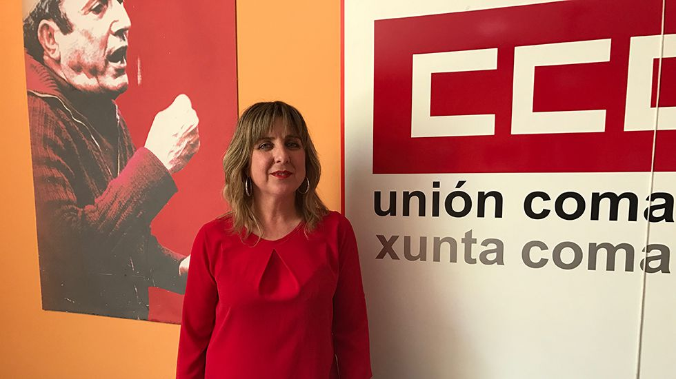 Esther Barbón, secretaria general de CCOO Nalón