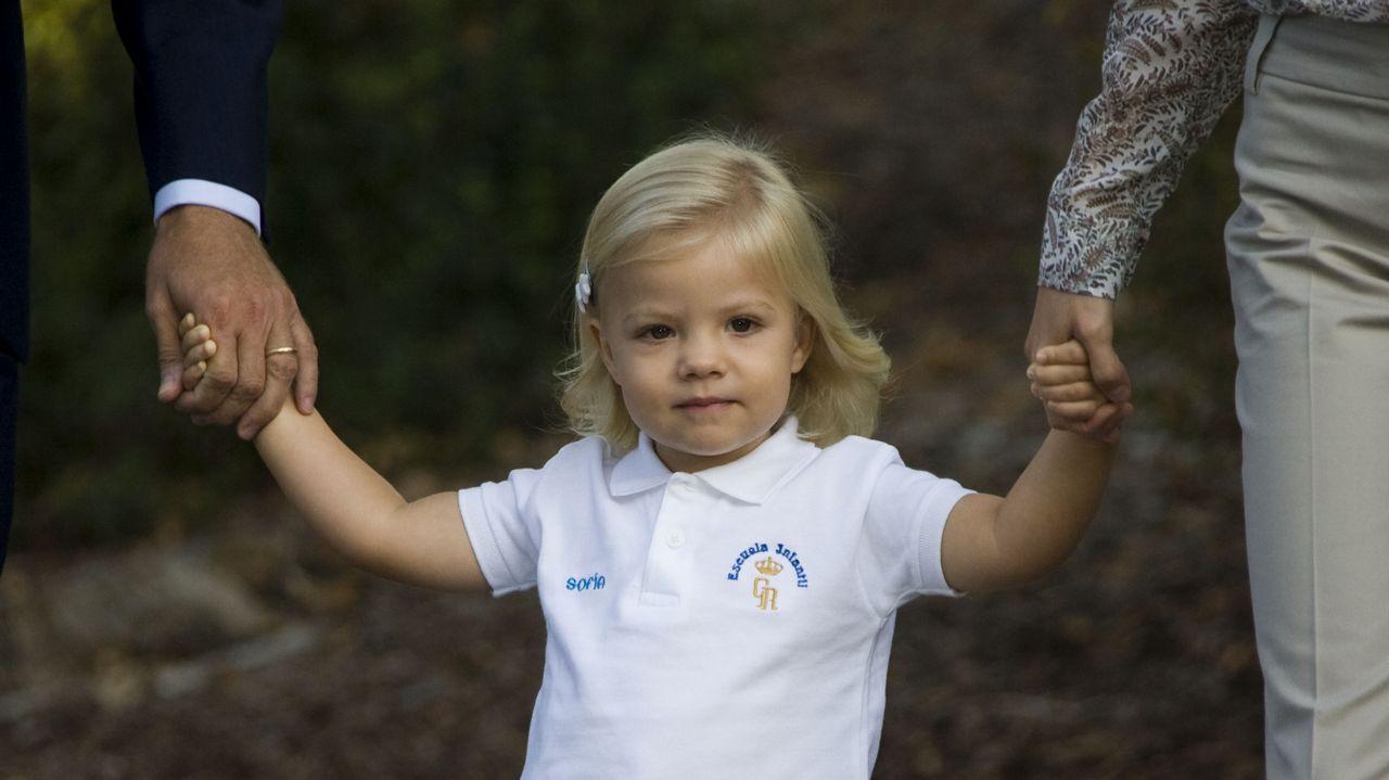 .Primer día de guardería en el Palacio del Pardo para la infanta Sofía, diciembre de 2009