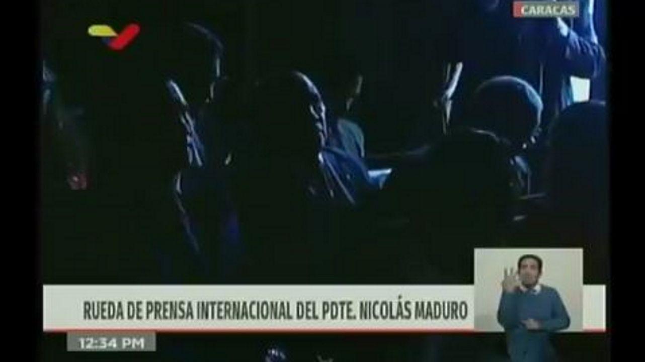 Los venezolanos no detienen su caminar hacia el exilio.Captura de la grabación en directo de la rueda de prensa de Nicolás Maduro en el palacio de Miraflores