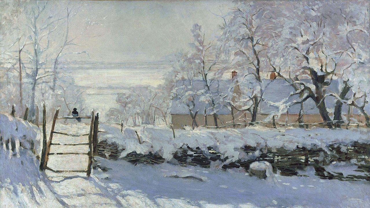 Los efectos del vórtice polar sobre Estados Unidos.«La urraca» (1869). Claude Monet. Musée d'Orsay, París