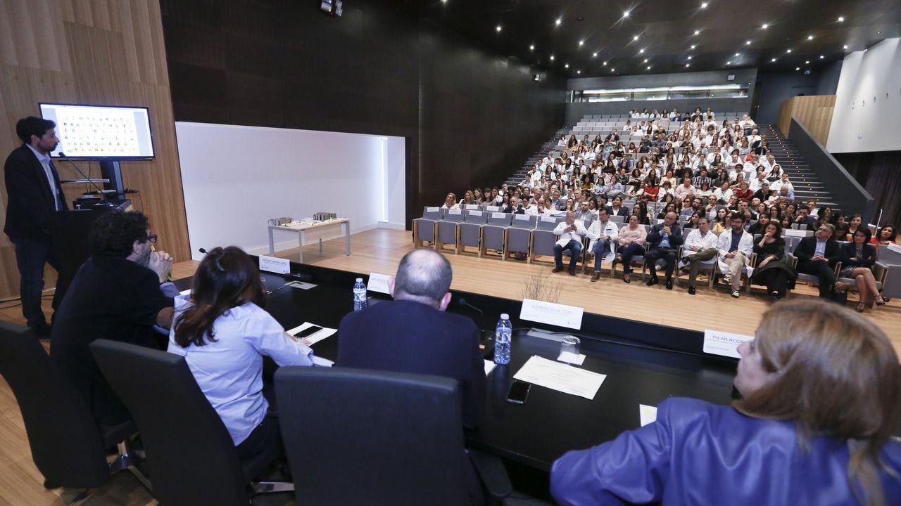 Acto de despedida de los médicos que hicieron el mir en Lugo en el 2018