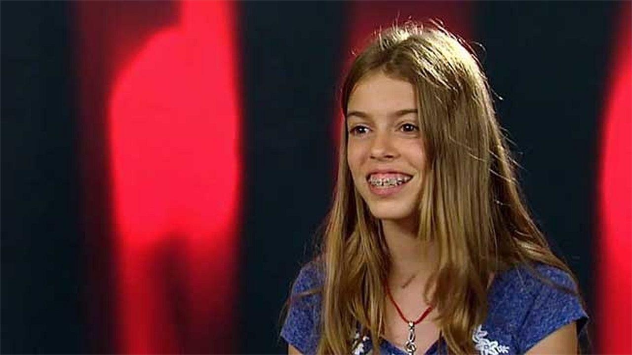 Nerea, hace unos años, cuando se presentó a «La Voz Kids»