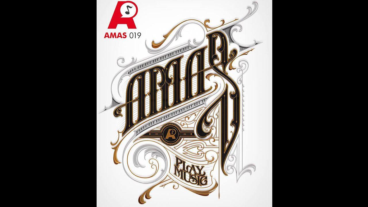 Preba de la sidra en Oviedo.Cartel de los Premios Amas 2019
