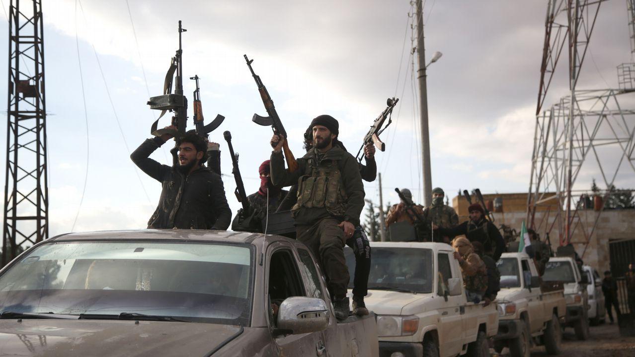 Milicianos kurdos de la YPG en una operación con las fuerzas de EE.UU. en abril en Darbasiya, ciudad de la frontera con Turquía