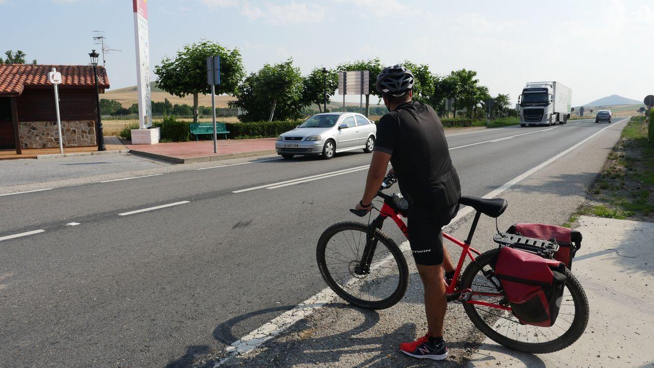 Cruce con la N-120 en Viloria de Rioja