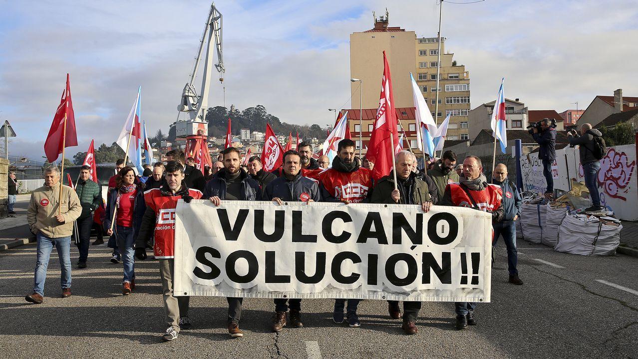 Movilización de los trabajadores de Vulcano a principios de mes