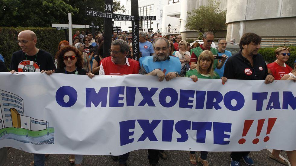 Foto de una protesta de archivo del Meixoeiro