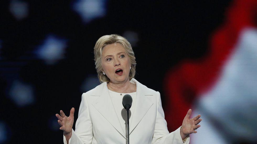 Primer debate televisado entre Hillary Clinton y Donald Trump.Donald Trump