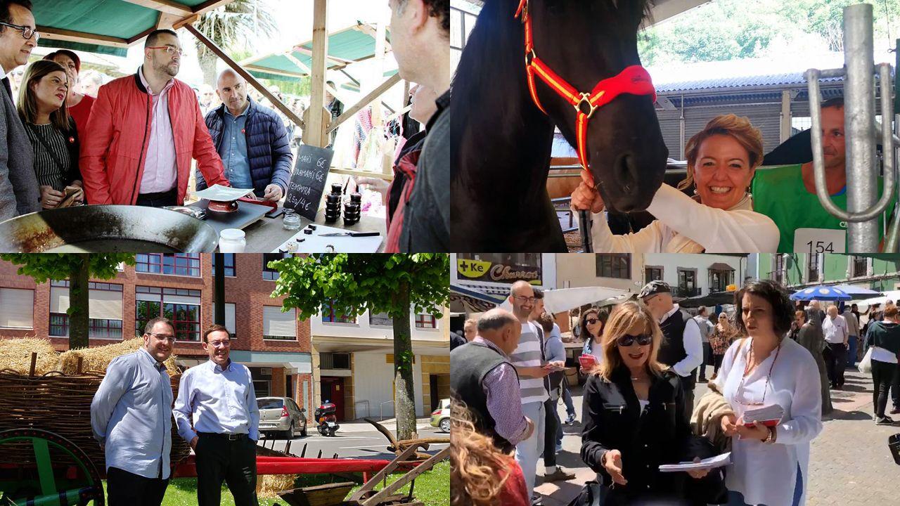 Entrevista a Ignacio Blanco (VOX).Adrián Barbón, Teresa Mallada, Juan Vázquez y Ángela Vallina