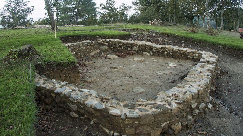 Una construcción del castro de Arxeriz que supuestamente sirvió como depósito de cereales