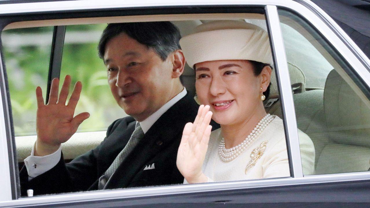 El nuevo emperador de Japón, Naruhito, y su esposa la emperatriz Masako.
