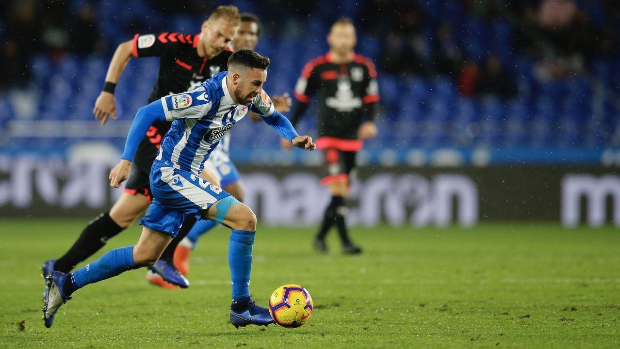 Las mejores imágenes del Málaga - Deportivo.Edu Expósito se mantendrá en el mediocampo deportivista