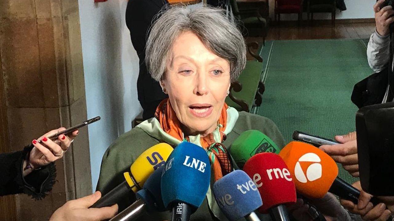 Rosa María Mateo atiende a los medios
