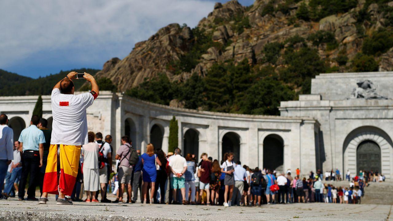 .Concentración que tuvo lugar ayer en el Valle de los Caídos
