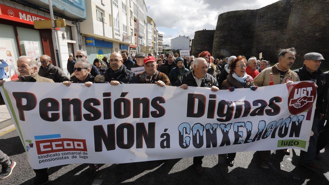 Los jubilados se manifiestan en Lugo