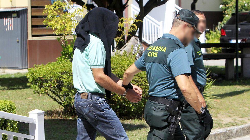 .Antonio V. G. fue detenido por la Guardia Civil de Mondariz.