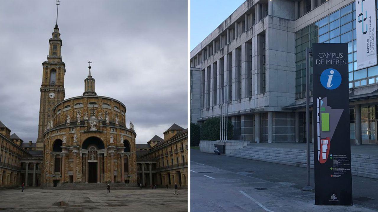 El rector de la Universidad de Oviedo, Santiago García Granda.Universidad Laboral de Gijón y Campus de Barredo de Mieres