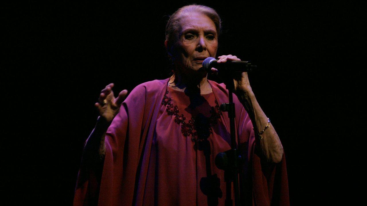 Maria Dolores Pradera en Ourense en el 2012