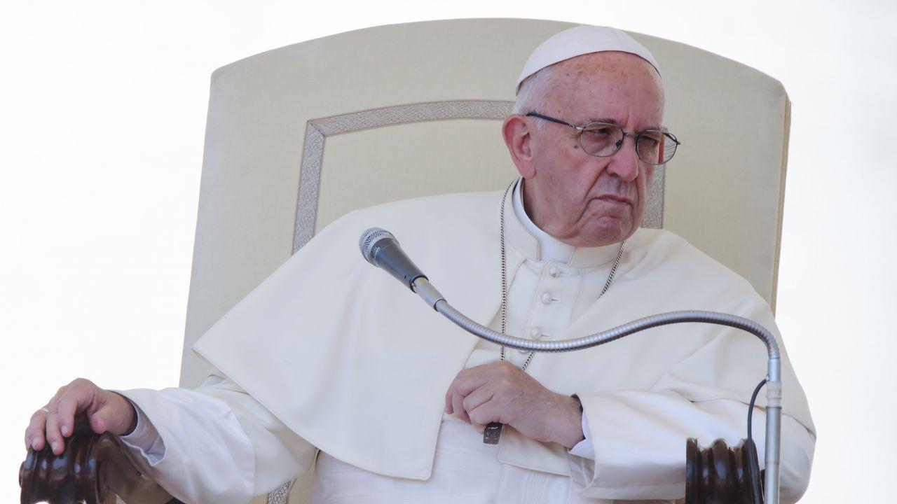 Los obispos reconocen los abusos sexuales cometidos en el seno de la Iglesia.El Papa Francisco, durante la audiencia general de los miércoles en el Vaticano