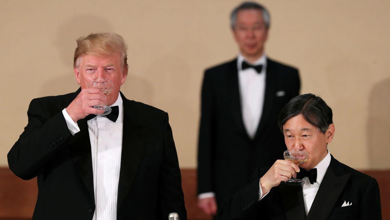 La visita de Trump a la capital británica, en imágenes.El presidente Trump es el primer líder extranjero que recibe Naruhito desde su ascenso al trono