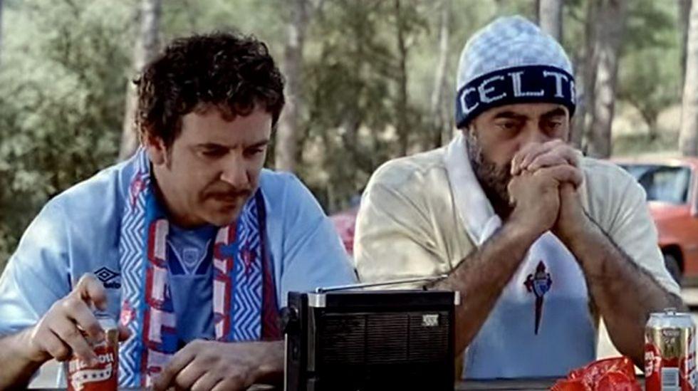 Nunha escea da curtametraxe Temporada 92/93, con Miguel de Lira
