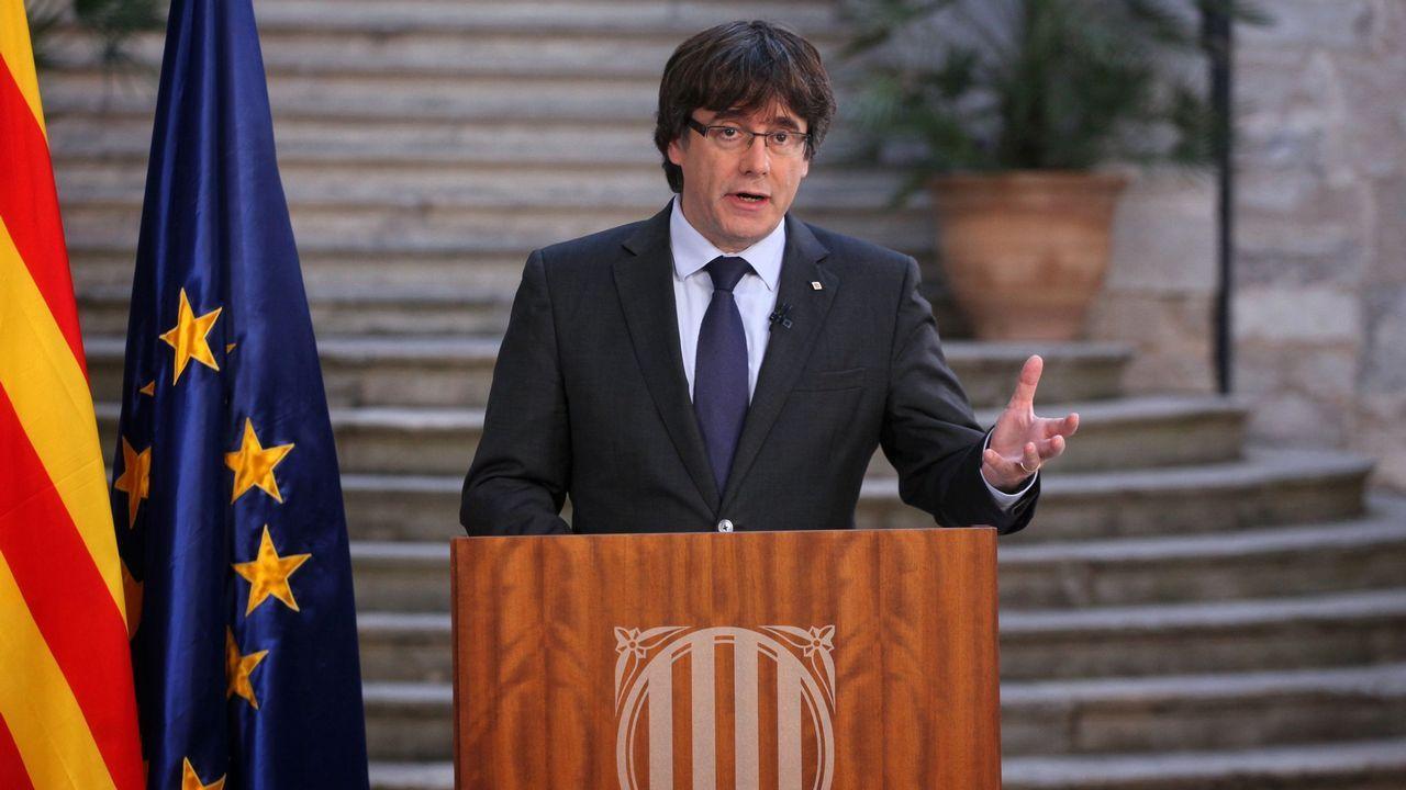Puigdemont no se da por destituido y llama a hacer «oposición democrática» al 155.Imagen de archivo