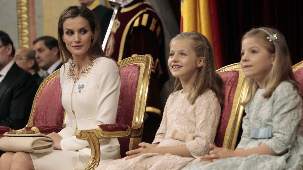 .En la ceremonia de coronación de Felipe VI.