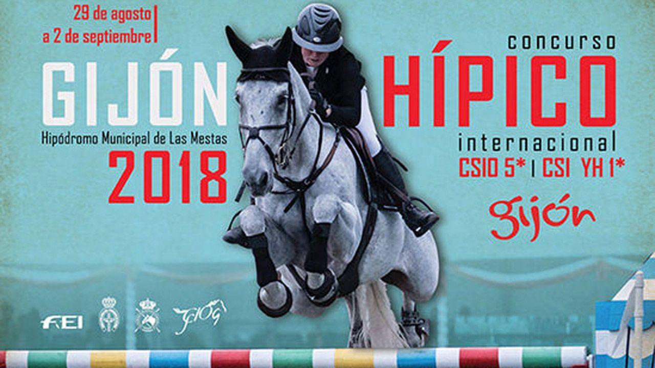 Cartel del concurso hípico de Gijón 2018