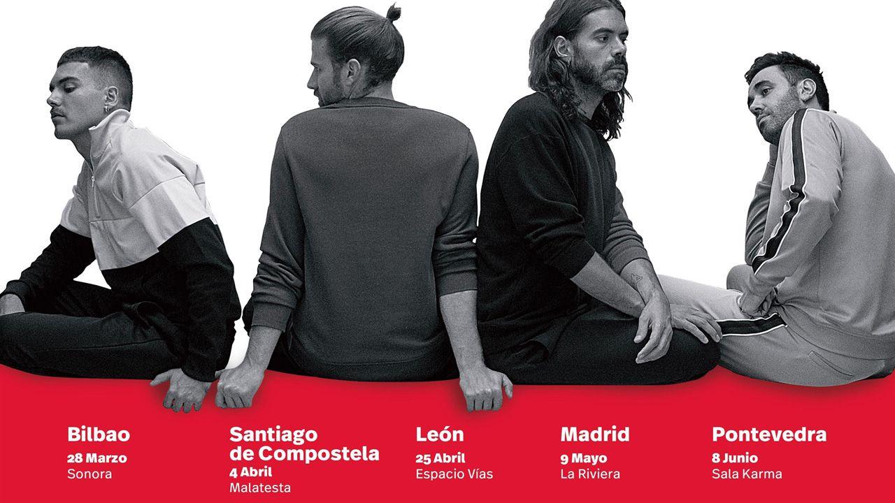 Imagen del grupo en el cartel de la Gira Mahou 2019, que llevará a la banda madrileña a Oviedo